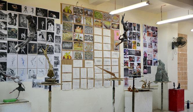Phòng khoa Điêu khắc của trường