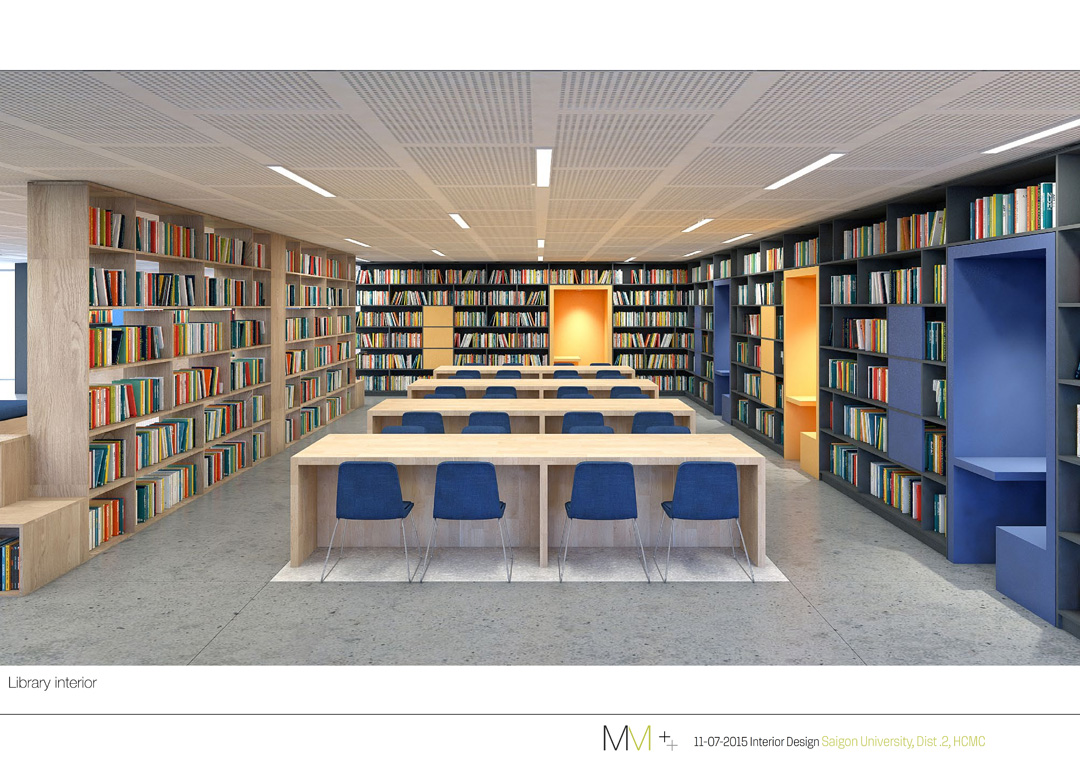Thư viện của trường đại học quốc tế sài gòn