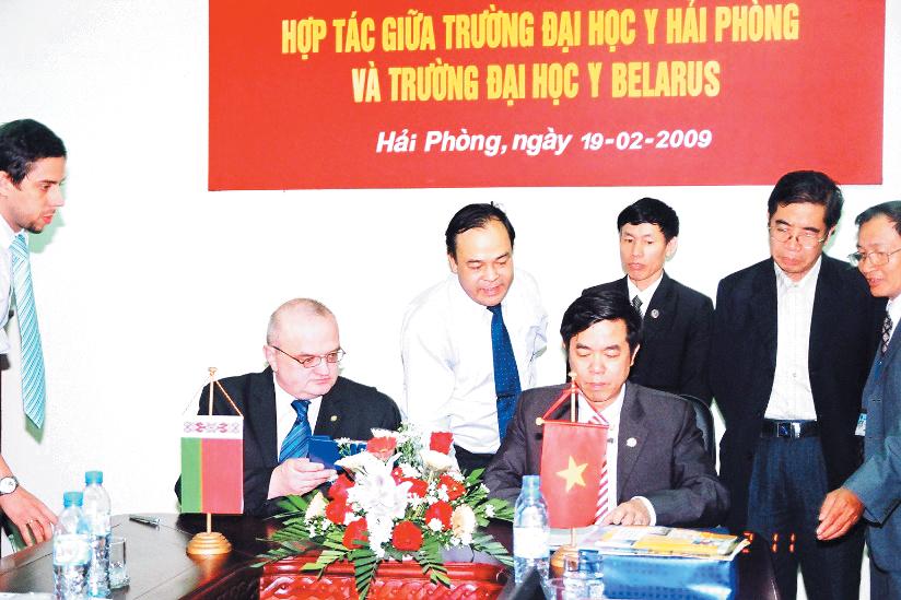 Trường đại học y dược Hải Phòng hợp tác với Trường đại học Y Belarus