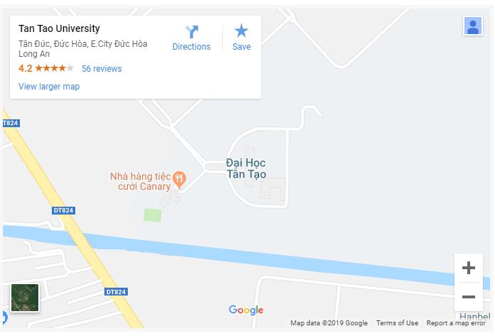 Bản đồ Đại học Tân Tạo
