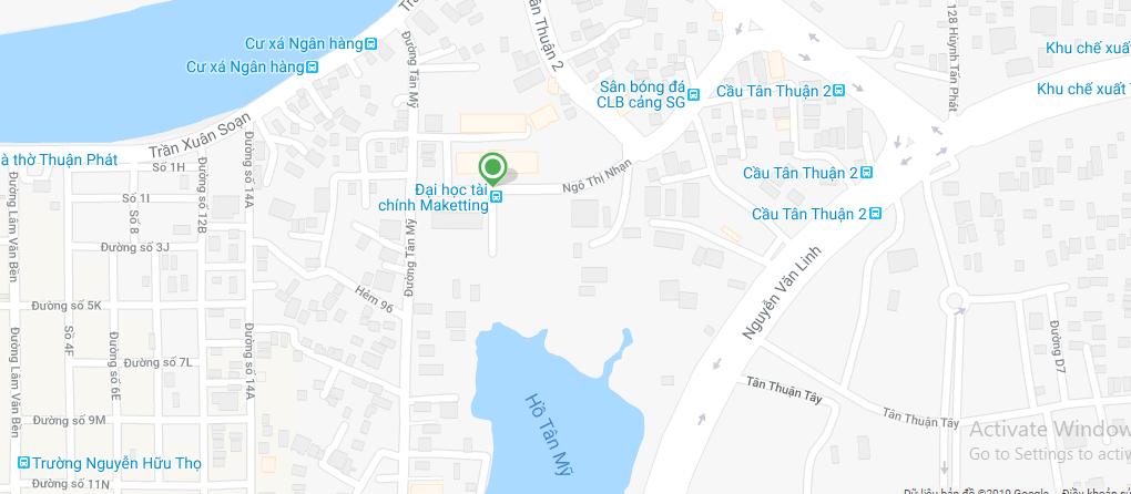 Bản đồ Đại học Tài chính - Marketing