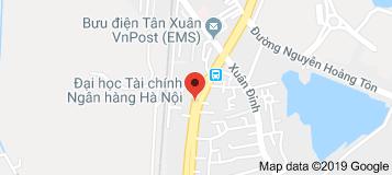 Bản đồ Đại học Tài chính Ngân hàng Hà Nội