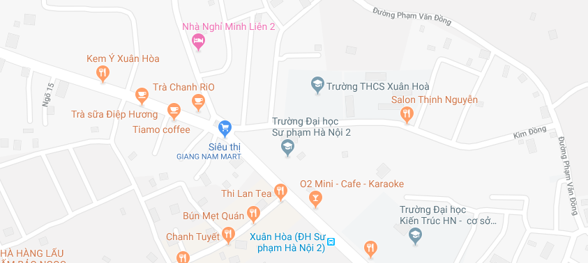Bản Đồ Đại học Sư Phạm Hà Nội 2