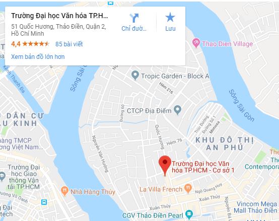 Bản đồ Đại học Văn hóa Tp.HCM