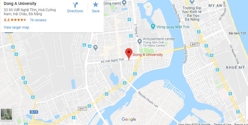 Bản đồ Đại học Đông Á