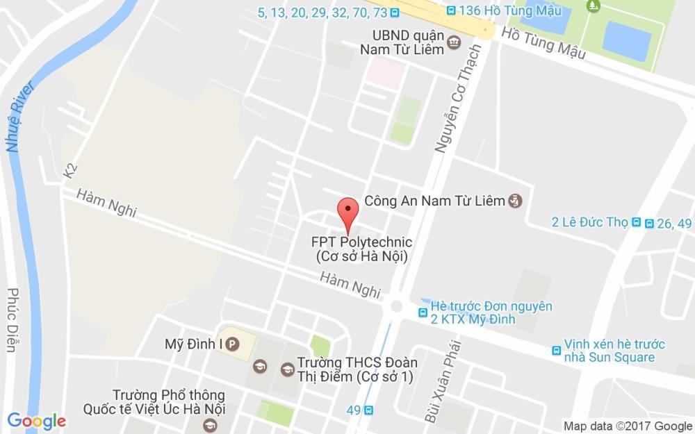 Bản đồ Đại học FPT Hà Nội