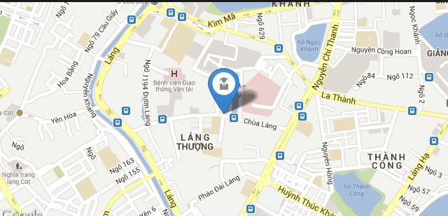 Bản đồ trường Đại học Ngoại thương Hà Nội