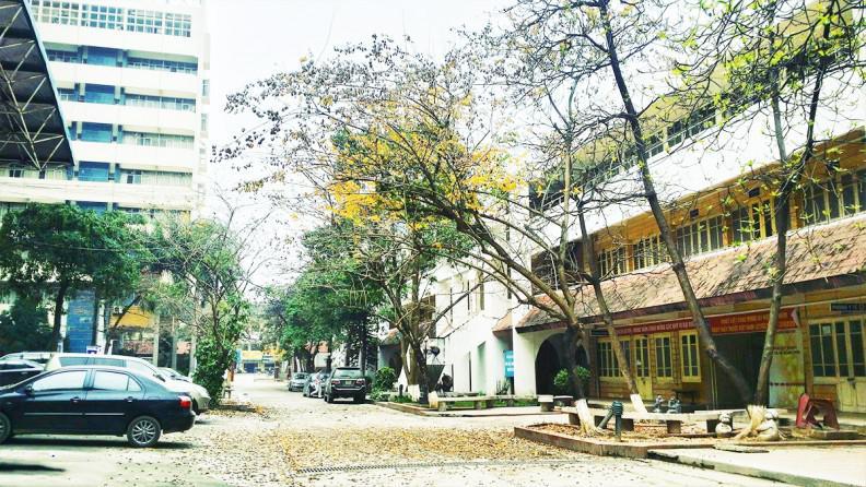 Khuôn viên trường Đại học Kiến Trúc Hà Nội