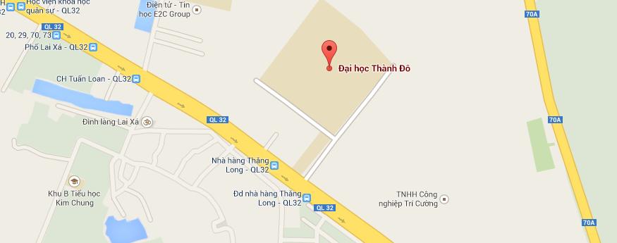 Bản đồ Đại học Thành Đô