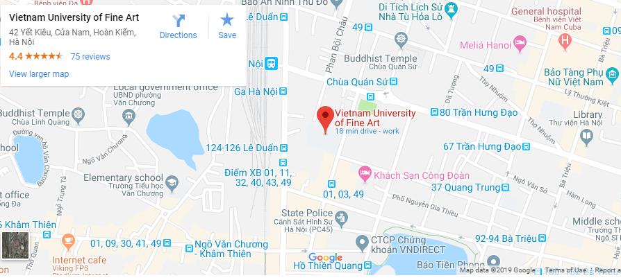 Bản đồ đại học Mỹ thuật Việt Nam