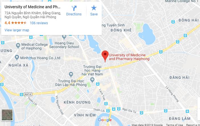 Bản đồ Đại học Y dược Hải Phòng