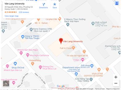 Bản đồ Đại học Văn Lang - cơ sở 2
