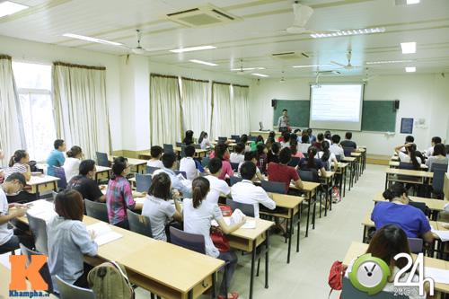 Lớp học tại ĐH Tài chính Ngân Hàng Hà Nội