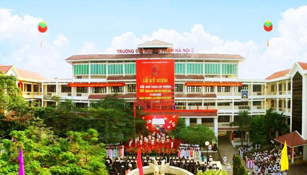 Toàn cảnh trường Đại học Sư phạm Hà Nội 2