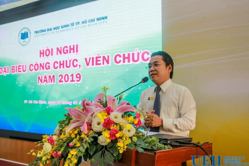 PGS.TS. Nguyễn Hữu Huy Nhựt - Phó Hiệu trưởng phát biểu