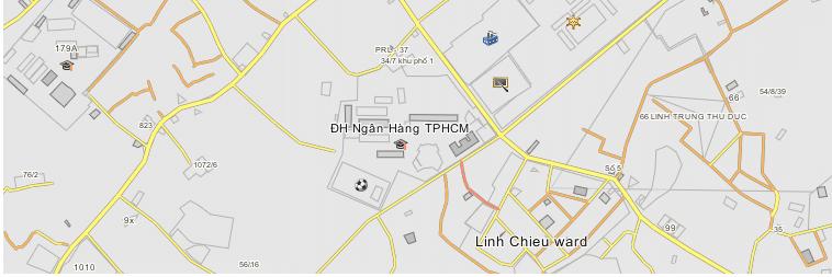 Bản đồ Đại học Ngân hàng Tp HCM
