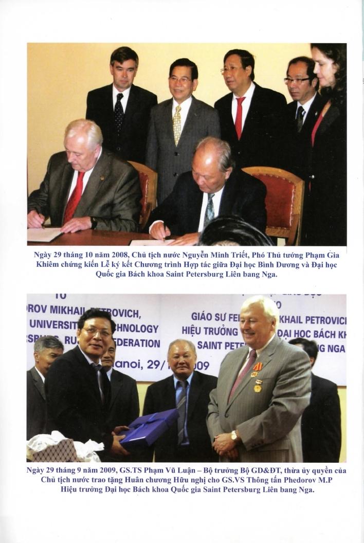 Liên kết hợp tác giữa Trường Đh Bình Dương và các trường danh tiếng Quốc tế
