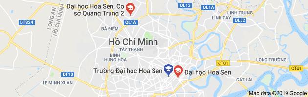 Bản đồ Đại học Hoa Sen - Cơ sở 2