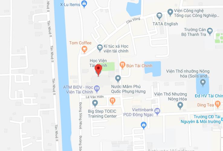 Bản đồ Học viện Tài chính