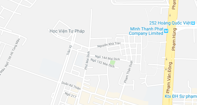Bản đồ Học viện Tư Pháp địa chỉ Hà Nội