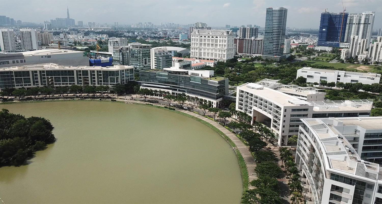 Khuôn viên trường Fulbright Việt Nam
