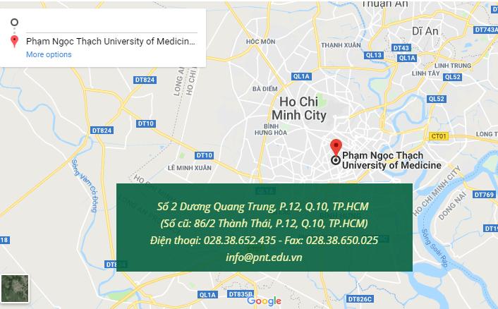 Bản đồ đại học Y Phạm Ngọc Thạch