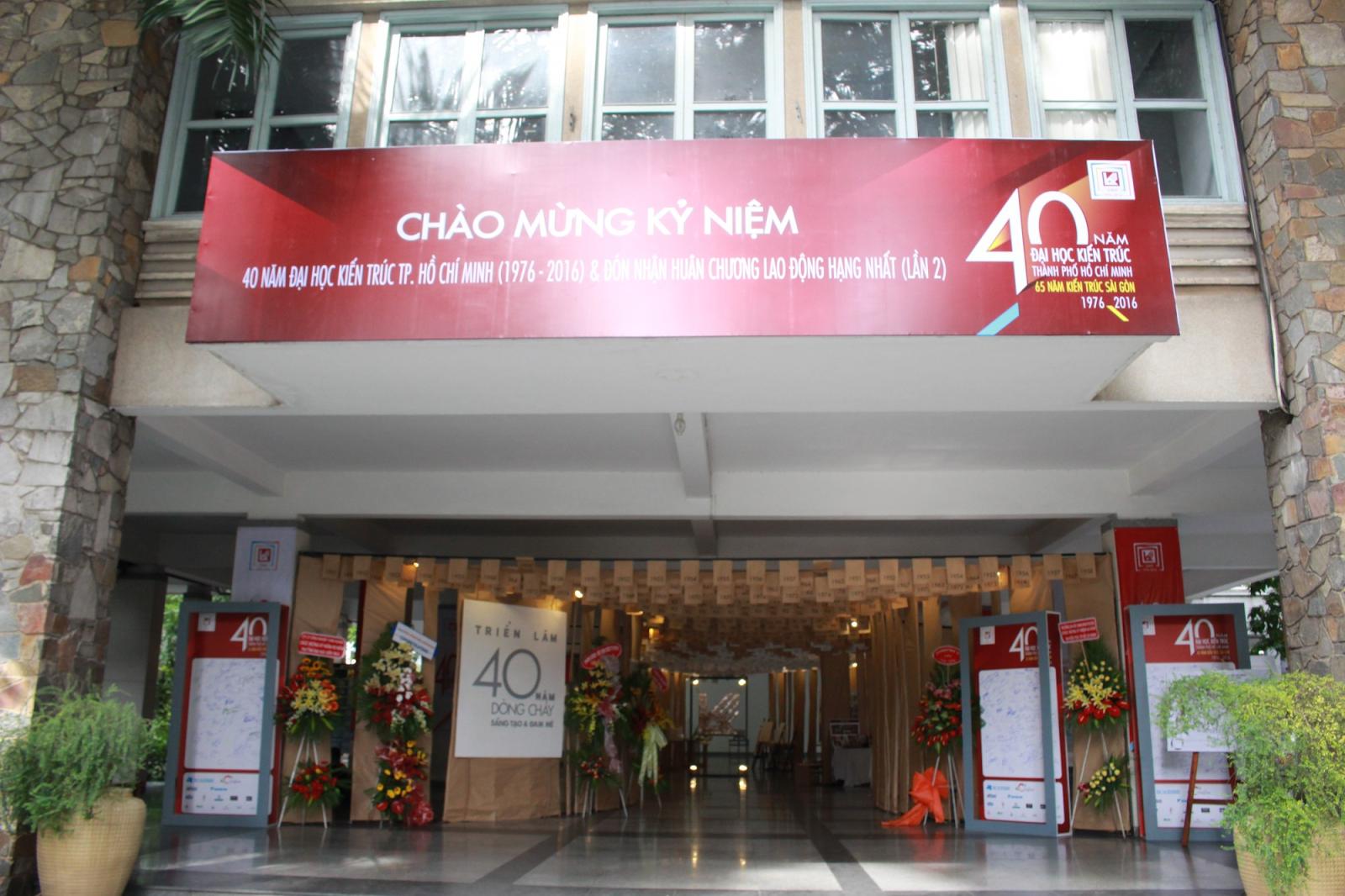 Đại học Kiến trúc Thành phố Hồ Chí Minh dịp kỷ niệm 40 năm thành lập (1976 -2016).